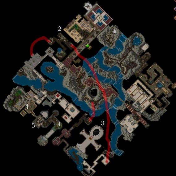 Carte détaillée - Quête d'entrée des Abysses
